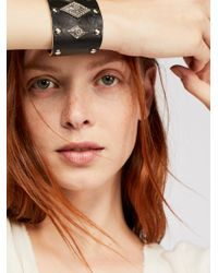 Free People - Distressed Leather Cuff - Lyst