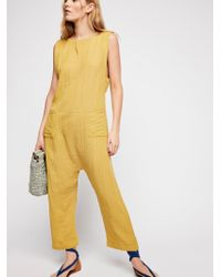 Free People - Take It Easy Jumpsuit - Lyst