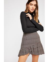 4c37b1216925 Free People Cute To Boot Mini Skirt in White - Lyst