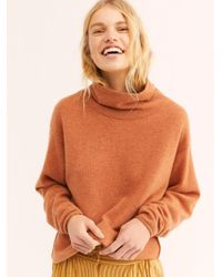 Free People - Cozy Cashmere Polo Neck Jumper - Lyst