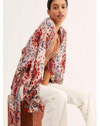 Free People Little Wing Mix Print Kimono