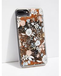 Free People - Floral Glitter Bomb Phone Case - Lyst
