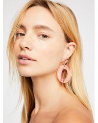 Free People - Kelly Resin Drop Hoop Earrings - Lyst