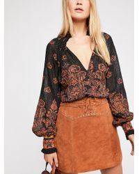 Free People - Fp One Smocked Paisley Top - Lyst