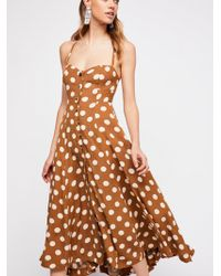 Free People - The One Dot Midi Dress - Lyst
