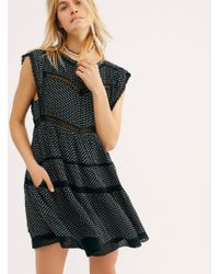 162ea18759f638 Free People - Retro Kitty Dress (black) Women's Clothing - Lyst