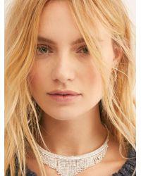 Free People - Rhinestone Collar Necklace - Lyst