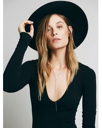 Free People - Seamless Solid Deep V - Lyst