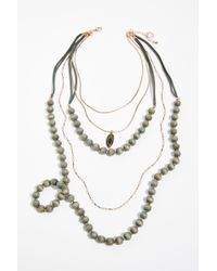 Free People - Beau Beaded Necklace - Lyst