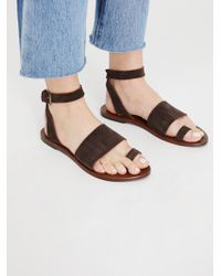 00cedeb83bb Free People Sun Seeker Gladiator Sandals in Brown - Lyst