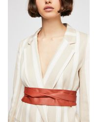 Free People - Leather Obi Belt By Ada Collection - Lyst