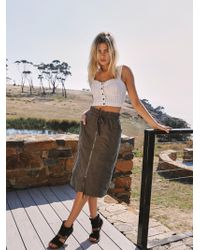 Free People - Just The Girl Utility Skirt - Lyst