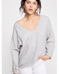 Free People - Ripped And Torn Cashmere Pullover - Lyst