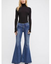 Free People - Low-rise Flare Jeans - Lyst