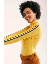 Free People - Solid Marathon Polo Neck Top By Camp Collection - Lyst