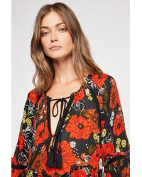 Free People - In The Moment Printed Dress - Lyst