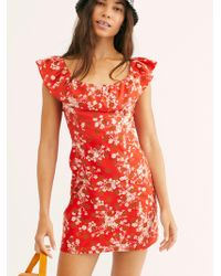 Free People - Ruby Fiore Mini Dress - Lyst