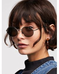 Free People - '90s Kid Oval Sunglasses - Lyst