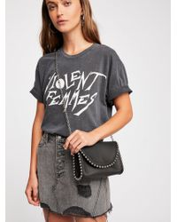 Free People - Denim A-line Skirt - Lyst