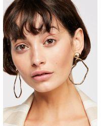 Free People - Liquid Metal Front To Back Earrings - Lyst
