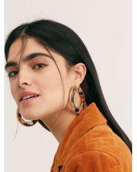 Free People - Hidden Resin Hoop Earrings - Lyst