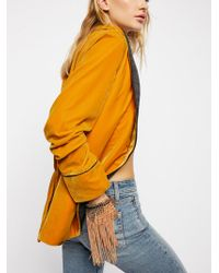 Free People | With The Wind Fringe Mesh Glove | Lyst
