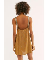 a0b8882467ded Lyst - Free People Rising Sun Slip in Pink