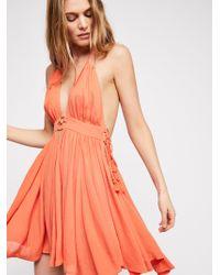 Free People - Electric Feelin' Mini Dress - Lyst