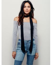 Free People - Off -the-shoulder Solid Top - Lyst