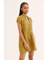 Free People - River Linen Stripe Tunic - Lyst