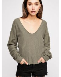 Free People - Now Or Never Cashmere V-neck Jumper - Lyst