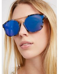 Free People - Hang Ten Cut-out Aviator - Lyst