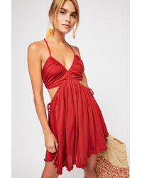 Free People - Wanderlust Mini Dress By Fp Beach - Lyst