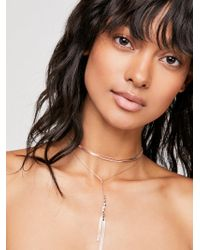 Free People - Goldspun Bolo Necklace - Lyst