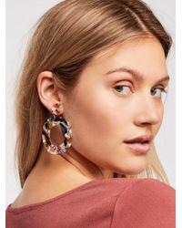 Free People - Lucy Resin Hoop Earrings - Lyst