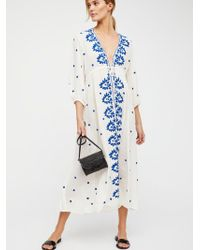 Free People - Embroidered Fable Dress - Lyst
