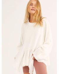 Free People - Gold Duster Pullover - Lyst