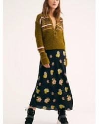 Free People - Kendall Midi Skirt - Lyst