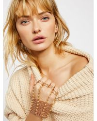 Free People - Sabrina Pearl Chain Glove - Lyst