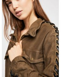 Free People - Faye Military Jacket - Lyst