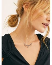 Free People - Daydreamer Charm Necklace - Lyst