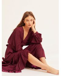 Free People - I Need To Know Shiny Maxi Dress - Lyst