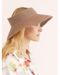 Free People - New Wave Straw Visor - Lyst