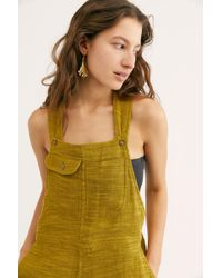 a893031b6cf Free People - Happiest When Sandy Coveralls By Endless Summer - Lyst