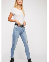Free People - Levi's Mile High Exposed Fly Skinny Jeans By Levi's - Lyst