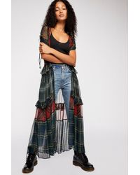 Free People - Capulet Mixed Plaid Kimono By Nfc - Lyst