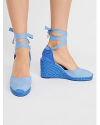 Free People - Carina Espadrille Wedge - Lyst