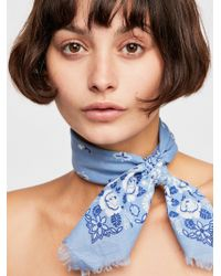 Free People - Beach Rose Printed Bandana - Lyst