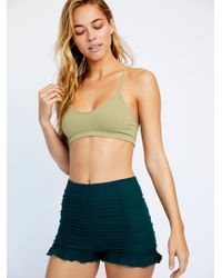 Free People Ruched Seamless Shorts By Intimately
