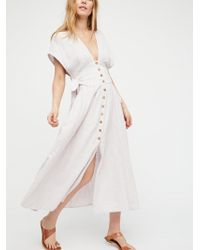 Free People - Jacinta Midi Dress - Lyst